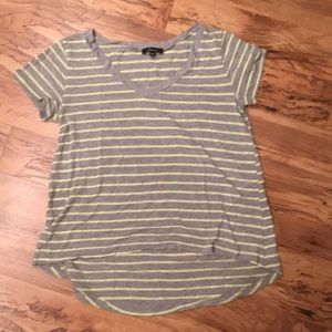 Tops - NWOT Gray and Green Striped Tee